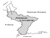 1870 - Prussia forced France to give up territory along German border
