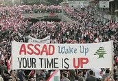 Syrians Protesting for Freedom and an End to Bashar's Rule