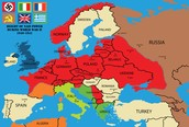 Map of Hitler takeover