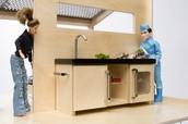 Keuken van de Poppenvilla leading | light