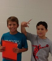 Gavin and Bryson having fun during Scavenger Hunt