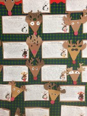 Reindeer Writing in Mrs. St. Jean's Third Grade