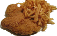 Chicken Thigh and fries
