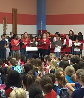 Honor choir singing patriot songs.
