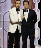 Ryan Gosling (on left) and Brad Pitt (on right)