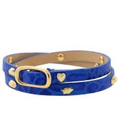 HUDSON Leather Wrap Blue $20 (Retail: $39)