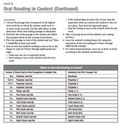 Oral Reading in Context