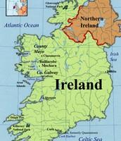 World Map of Ireland