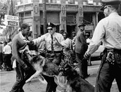 An arrest at the Birmingham riots