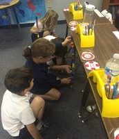 Measuring our desks with non-standard units of measurement!!!