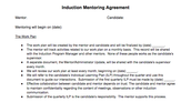 Induction Mentoring Agreement
