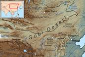 """Map of the """"Gobi"""" desert"""