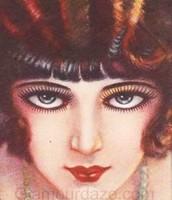 Popular 1920's make-up look