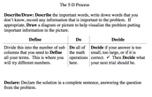 What is the 5-D Process?