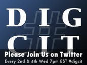 Join #digcit chat every 2nd & 4th Wednesday at 7pm EST