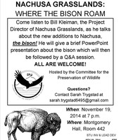 CPW talk with Nachusa Grasslands