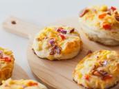 Cheesy Chicken Bagel Pizza