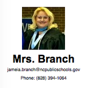 Mrs. Branch Contact Information