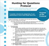 Protocol: Hunting for Questions