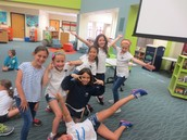 Girls having fun at Yom Haatzmaut!