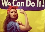 Why is Beyonce an inspiration to lots of girls around the world?