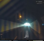 הבדלי התאורה בתוך המנהרה לאור החיצוני - אור היום