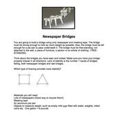 Newspaper Bridge Building Instructions