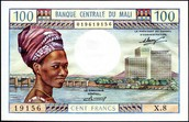 100 Dollar bill in mali