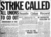 Newspaper Talking About a Strike