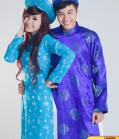 Ao dai for man and woman.