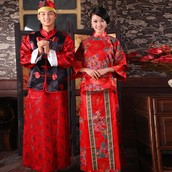 A traditional dress and robe