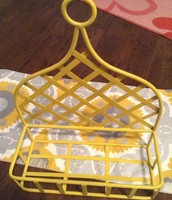 Yellow home decor hanging basket - SOLD