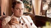 Gatsby having a drink