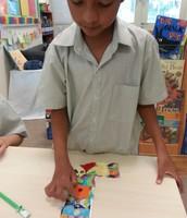 G1 JWo: Working on Scrap Craft (Art in Class)