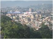 La ciudad de Tegucigalpa.