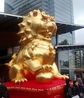 Big Gold  Inflatable Dragon Statue