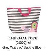 Thermal Tote in Grey Wave