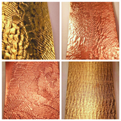 Textured Brass and Copper