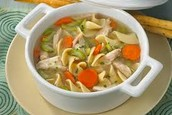 delightful chicken noodle soup $3.00
