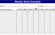 Average Hours/Working schedule