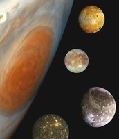 Jupiter's four biggest moons