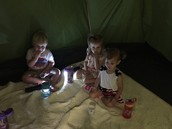 Snack inside the tent: last day camping