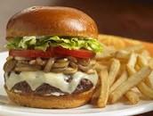 Mushroom Dan Daging Burger