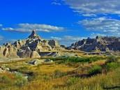 Landscape in Badlands