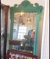 $125 - Ornate Green Chalk Paint Mirror