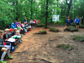 learning about weatherin, erosion and depistion in the rock garden