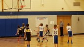6th grade basketball action