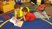 5th and Kindergarten Reading Buddies!
