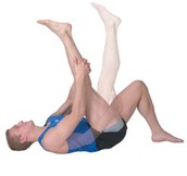 Lying Straight, Leg to Chest Stretch