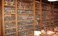 Hundreds of glasses, each for their own unique beer.